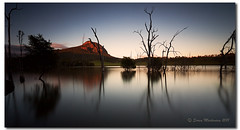 70 Seconds of Golden Bliss (danishpm) Tags: longexposure trees mountain sunrise canon golden wideangle qld aussie 1020mm manfrotto sigmalens southeastqueensland eos450d moogerah 450d lakemoogerah sorenmartensen hitechgradfilters 09ndsoftgrad