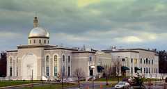 MASJID BAITUL RAHMAN - UNDER WINTER'S CLOUDY SKY - LATE EVENING DECEMBER 18 2011 (Citizen of Two Worlds) Tags: usa muslim islam religion maryland mosque qadian ahmadiyya rabwah