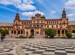 Praa de Espanha Sevilha (_Rjc9666_) Tags: monument architecture espanha monumento 15 panasonic 61 sevilha dmctz4 ruijorge9666
