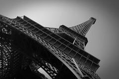 La Tour Eiffel (Pamela Graham) Tags: blackandwhite bw paris france building tower dark grey travels frankreich tour towers eiffeltower eiffel toureiffel francia sights sighttourist