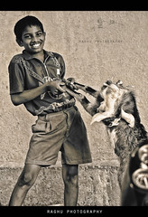 My pet and Me... We bond like siblings! (Raghu Madanagopal) Tags: people blackandwhite india kids portraits canon children ngc madras streetphotography chennai discovery folks tamilnadu southindia raghu southasia cwc canon550d canoneos550d eos550d raghumadanagopal streetphotographyfaces