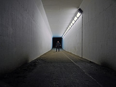 GRANDAD NINJA (kenny barker) Tags: winter colour night self lumix lights scotland tunnel grangemouth panasonicgf1 kennybarker
