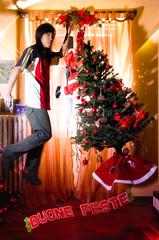 xmas-portrait (di-ZZ-y) Tags: christmas xmas portrait tree self nikon dizzy magical chistmas d7000 dizzypixels