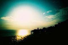 Sunset (no filter) (saviorjosh) Tags: sunset sea sun lomo lca xpro lomography mediterranean kodak aegean santorini greece crossprocessing e100vs oia
