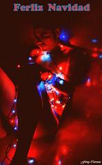 Feliz Navidad y Prspero Ao Nuevo!!! (Ferny Carreras) Tags: christmas light selfportrait me mi self navidad luces mine flickr retrato yo autoretrato nol natale feliznavidad i oltusfotos