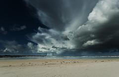 "storm""4"" (G.V Photographie) Tags: sunset sea bw mer seascape france reflection water port landscape rouge coast boat sand nikon eau sable bretagne cte reflet le bateau 1224 balise babord santec dossen nd106 d3000"