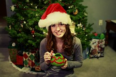 Merry Christmas Eve! (Heatherrrr.Marie) Tags: santa christmas red portrait tree green cup hat self homemade ornaments presents
