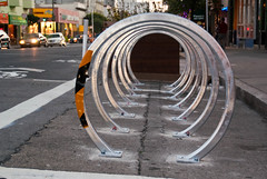 17867 Bike parking corral in from of The Crepe House on Polk at Washington (geekstinkbreath) Tags: sanfrancisco parking corral polkstreet polkst polk bikeparking bicycleparking bikecorral crepehouse polkgulch thecrepehouse onstreetbikeparking onstreetbicycleparking bicyclecorral bicycleparkingcorral bikeparkingcorral promaster18mm200mm