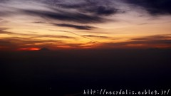 Mt. Fuji... (necydalis) Tags: from leica sunset sky cloud mountain japan airplane japanese fuji mt view dusk 4 dlux