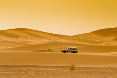 Driving in the Dunes (Beum Gallery) Tags: voyage africa travelling sahara landscape sand desert dunes dune sable riding camel morocco journey maroc maghreb paysage camels afrique dsert merzouga nomade dromadaire chameau ergchebbi chameaux dromadaires  saharaoui