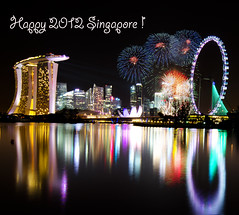 Singapore 2012 Countdown Firework - First burst of fire !!! (Wang Guowen (gw.wang)) Tags: lighting longexposure reflection nikon singapore cityscape nightshot firework countdown 2012 greatphotographers singaporeflyer marinabaysands flickraward d7000 tokinaaf1116mmf28 tokinaatx116f28 artsciencemuseum blinkagain bestofblinkwinners gwwang wwwon9cloudcom singaporecountdown2012party