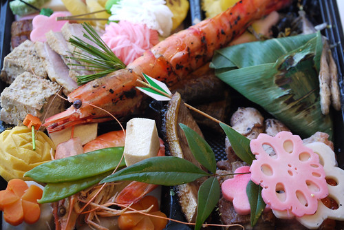 Japanese Food (Osechi) for New Year's Morning.