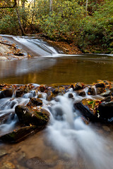 Wildcat Creek (John Cothron) Tags: autumn usa reflection fall nature water leaves rock creek 35mm canon river georgia landscape morninglight waterfall moss stream outdoor sunny whirlpool flowing freshwater wildcatcreek clarkesville rabuncounty johncothron 5dmkii wildcatcreekroad cothronphotography wildcatwaterslide
