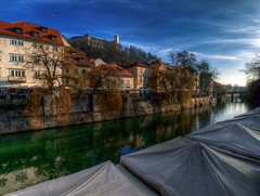 In Harmony 3 (Union*) Tags: bridge houses winter castle river most slovenia ljubljana embankment cobblers ljubljanica utarski evljarski nabreje cankarjevo