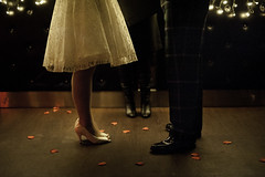 New Year's Eve wedding (joannablu kitchener) Tags: wedding roses love bar scotland nikon shoes couple edinburgh romantic vows d700 kitchenerphotography ratpackpianobar