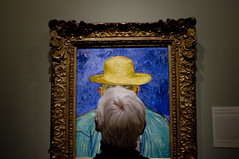 My mom visits Van Gogh (susan catherine) Tags: california selfportrait mom pasadena vincentvangogh x100 nortonsimonmuseum hisnotmine