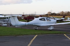 G-OCCU (IndiaEcho) Tags: light england canon airplane eos airport general aircraft aviation aeroplane diamond civil da 40 katana hertfordshire airfield elstree 1000d goccu 281211