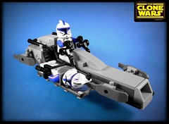 BARC Speeder (Joris Blok) Tags: star lego captain wars clone medic rex barc speeder stretcher kix