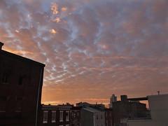 SunRise (damonabnormal) Tags: street city sky urban sun philadelphia skyline clouds sunrise am fuji jan january earlymorning streetphotography pa fujifilm mornings philly phl 2012 x10 urbanite citycape fujix10