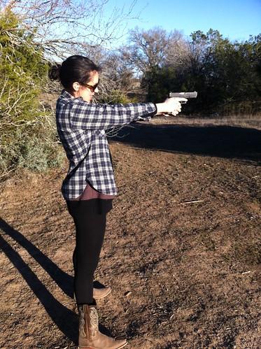 Rachel's got a gun