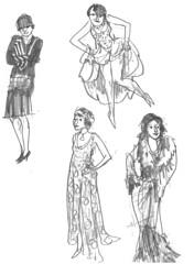 Sketchbook-Fashion1920s-004 (addtadd) Tags: 1920s fashion pencil women drawing sketchbook warmup
