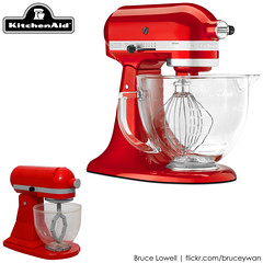 LEGO KitchenAid Tilt-Head Stand Mixer (Comparison) (bruceywan) Tags: ohio red apple scale kitchen toy stand model candy lego head mixer replica hobart 1919 tilt greenville appliance photostream countertop kitchenaid duplo whirpool brucelowellcom