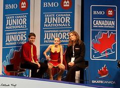 Dylan Conway & Dustin Sherriff-Clayton (Melanie Heaney) Tags: sports action pairs coaching figureskating kissandcry dylanconway 2011canadians dustinsherriffclayton