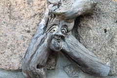 IMG_0242 ed (northernkite) Tags: art face harbour carving driftwood aberdeen footdee fittie