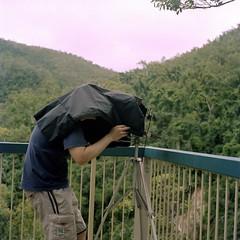 Steve and the Shenhao (Unbendable Girder) Tags: camera 6x6 tlr film kodak australia 124g queensland 4x5 medium format 160vc portra yashica townsville 220 composing yashicamat shenhao 160iso