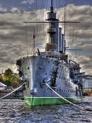 Crucero Aurora, San Petersburgo (Rusia) (Alejandro Crdaba Rubio) Tags: stpetersburg olympus hdr rusia sanktpeterburg sanpetersburgo cruceroaurora