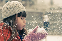 (Kilkennycat) Tags: snow girl canon fun child 50mm14 snowing 500d t1i