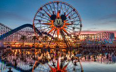 Mickey's Fun Wheel (David Morton) Tags: california canon dusk disney mickeymouse dca hdr californiaadventure californiascreamin 2011 photomatix 450d canon450d funwheel