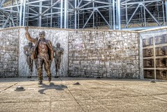 Joe Paterno Statue outside Beaver Stadium HDR (Dave DiCello) Tags: old sun college dave photoshop happy football high nikon university dynamic state pennsylvania main lion joe pennstate valley penn lions flare statecollege nikkor oldmain range happyvalley nittany hdr highdynamicrange exposed paterno psu sunflare dies 18mm cs4 joepaterno pennsylvaniastateuniversity photomatix d40 statecollegepa tonemapped dicello d40x pennstatenittanylions nittanylionfootball valleypa pennstateoldmain davedicello nikonsunflare pennstatehdr pennstatenittanylionfootball sunflarehdr happyvalleypa hdrexposed collegepa joepaternodeath