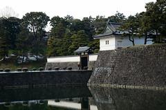 Sakurada-mon gate at the Imperial Palace  -  (Kaoru Honda) Tags: city winter snow castle japan landscape tokyo nikon   imperialpalace      edocastle      nijuubashi d7000