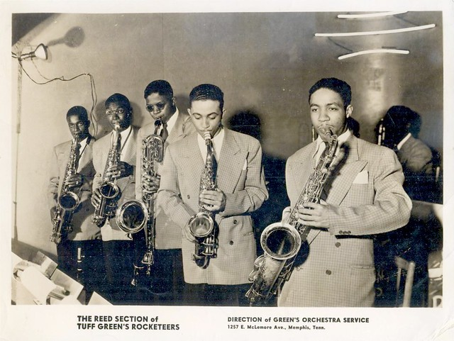 The Reed Section of Tuff Greens Rocketeers, Memphis, Tenn. - 1940s promo photo