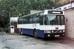 B947ASU-01 (Ian R. Simpson) Tags: b947asu volvo b10m vanhool alizee hutchison hendersontravel rhonddabuse stagecoachredwhite ghabuses wjcbuses bus depot yard
