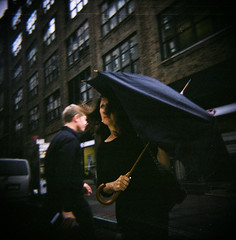 44430004 (dogseat) Tags: nyc urban woman black film umbrella dark square holga noir manhattan ishootfilm