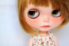 I  Nicky (Aya_27) Tags: flower cute floral bigeyes doll sweet bow lad handsewn blythe lovely custom nicky dollie freackles inhand dressbyme nickylad