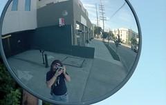 Convex Self Portrait (airencracken) Tags: film la losangeles kodak february sawtelle portra kodakportra160vc emulsion c41 160asa 2011 kodakportra leicam3 prolab 160iso airencracken swanlabs