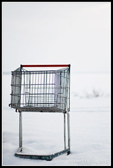 Shopping cart on snowy beach (mmoborg) Tags: winter snow cold kyla vinter sweden sverige snö 2012 mmoborg mariamoborg