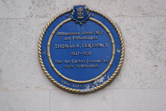 Photo of Thomas R Ferens and Thomas R. Ferens blue plaque