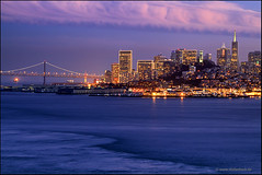 San Francisco Skyline (Stefan Bock) Tags: sanfrancisco california usa water skyline architecture wasser nightshot architektur nachtaufnahme kalifornien mygearandme