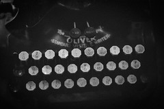 Oliver (lungstruck) Tags: old bw classic film typewriter analog writing 35mm vintage keys oliver antique grain machine delta writer grainy visible standard 3200 ilford ilforddelta3200 querty