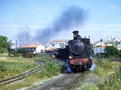 Portugal 1972 - E132 leaving Viseu (geoffspages) Tags: portugal steam 1972 narrowgauge viseu