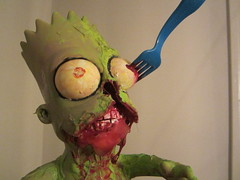 "10"" zombie bart in progress (andres musta) Tags: sculpture toy zombie bart figure custom andres musta"