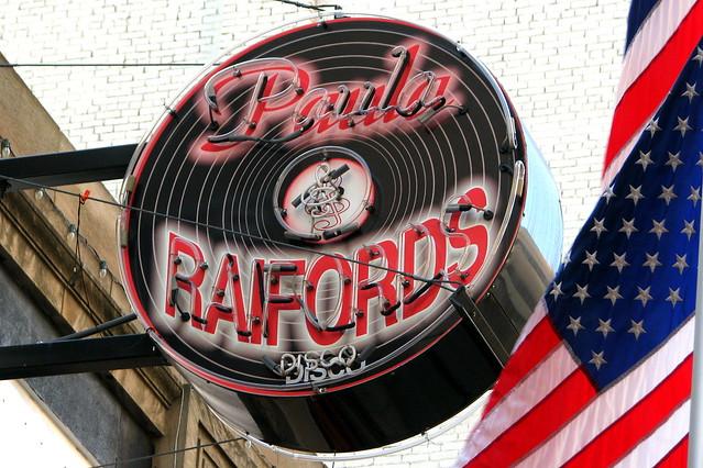 Paula & Raiford's Disco neon sign - downtown Memphis