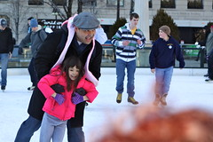 Millennium Park Skating (dangaken) Tags: winter usa snow chicago ice girl canon daddy illinois midwest dad child iceskating coat father skating daughter january icerink il chi rink littlegirl millenniumpark 2012 windycity daddydaughter 50d canon50d millenniumparkskating