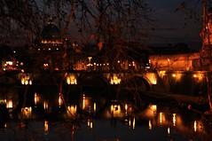 Rome (Italy) - The Tevere at night ( V ) Tags: city bridge italy vatican rome roma night dark italia basilica tevere embankment santangelo saintpeter eternalcity tiberis olaszorszg rma caputmundi cityofsevenhills rkvros ilobsterit