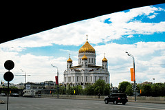 main temple (iuseruby) Tags: city travel sky urban church 35mm canon temple russia geometry moscow capital f2 orthodox