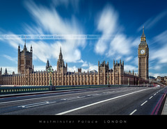 Westminster Palace, London (Beboy_photographies) Tags: bridge blue cloud westminster pose big long exposure ben bigben palace bleu ciel londres pont pause nuage longue